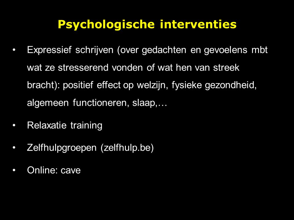 Psychologische interventies