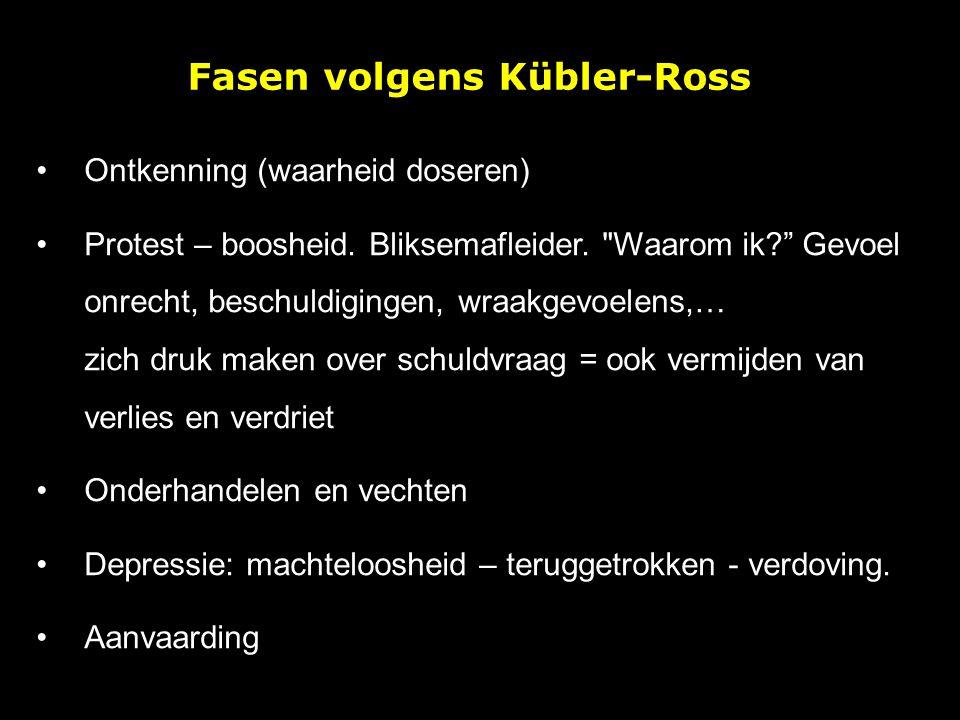 Fasen volgens Kübler-Ross