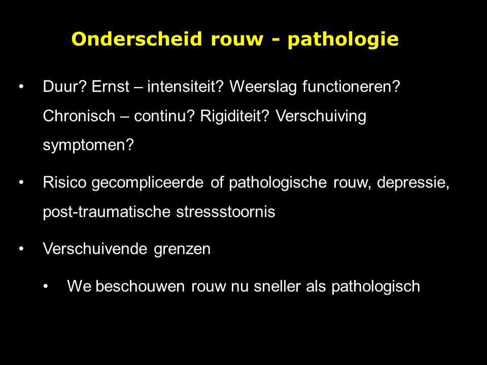 Onderscheid rouw - pathologie