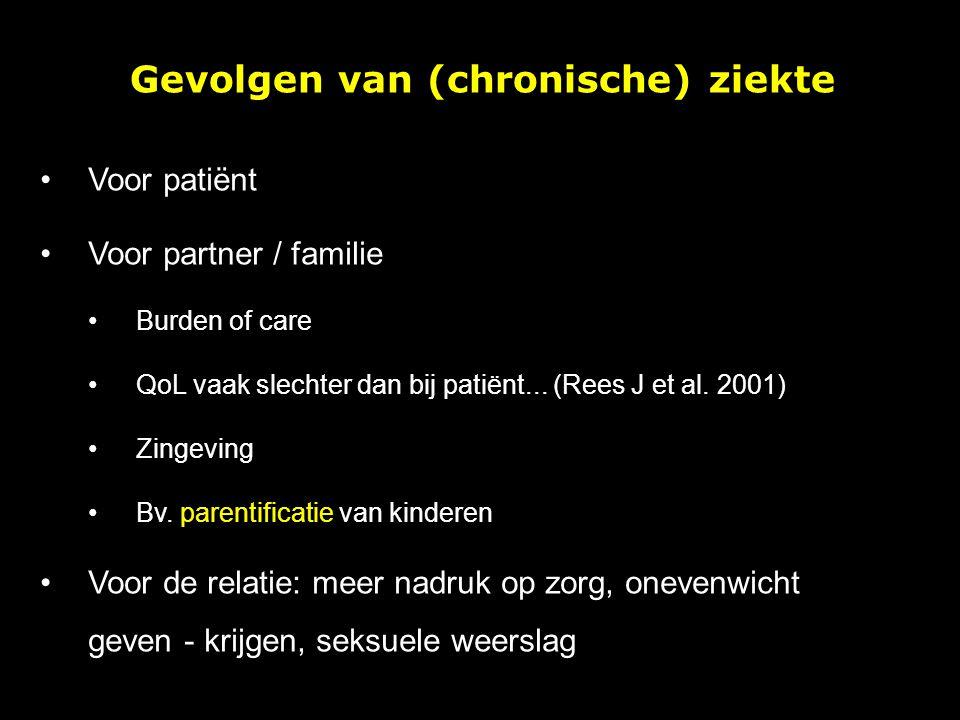 Gevolgen van (chronische) ziekte