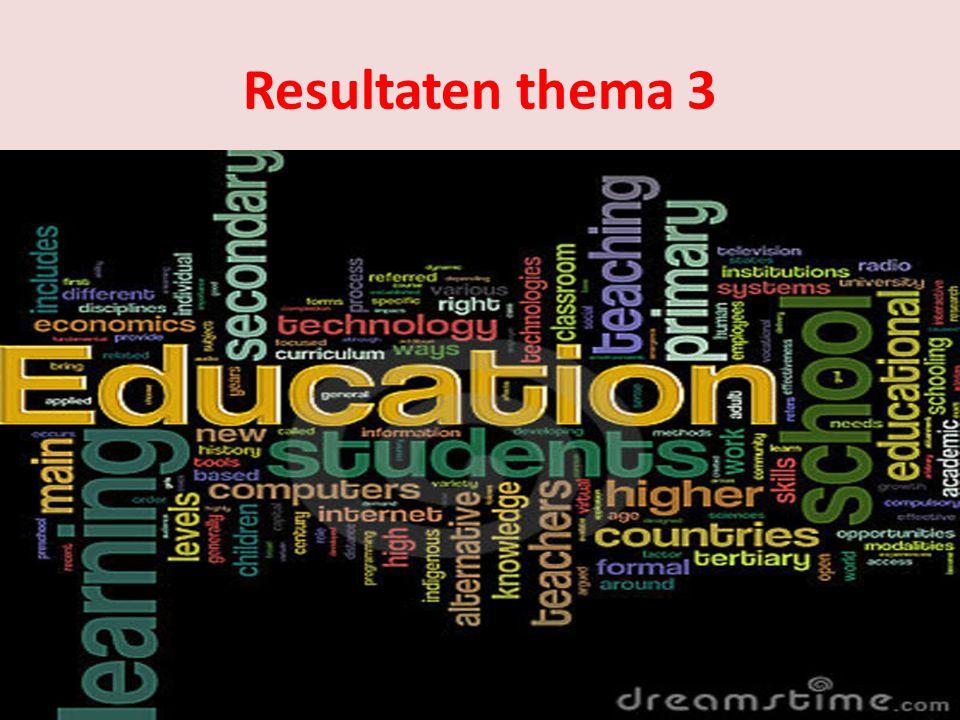 Resultaten thema 3 Verwachtingen: Algemene opmerkingen als afwisselend, brede opleiding etc.