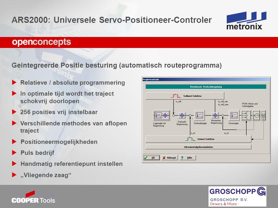 ARS2000: Universele Servo-Positioneer-Controler