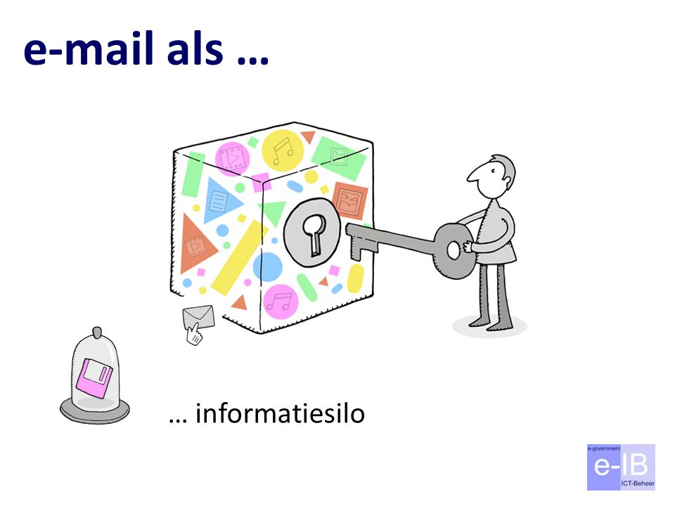 e-mail als … … informatiesilo Nu gebeurt dit vaak: