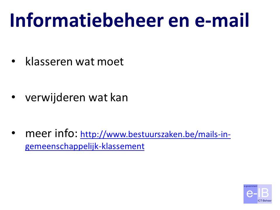 Informatiebeheer en e-mail