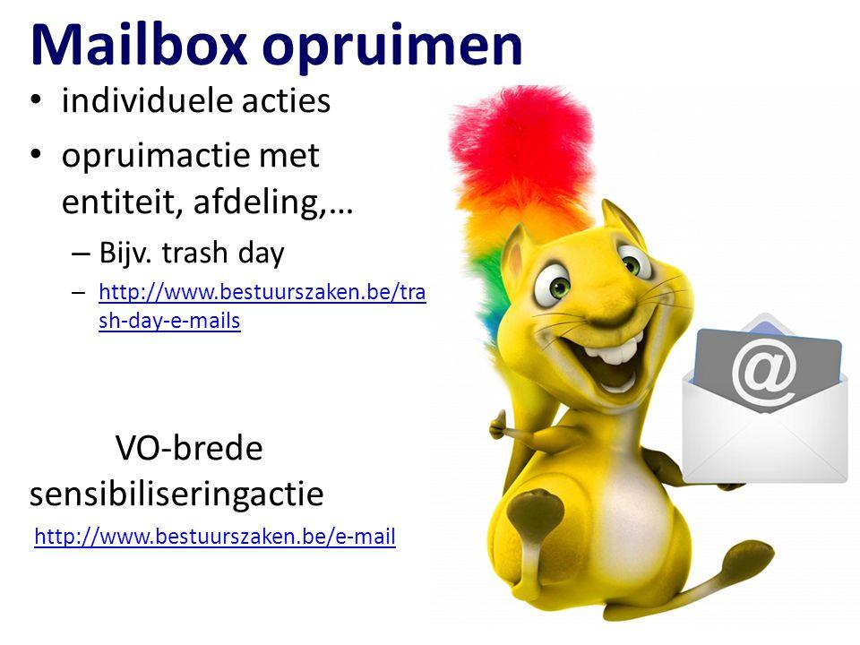 Mailbox opruimen individuele acties