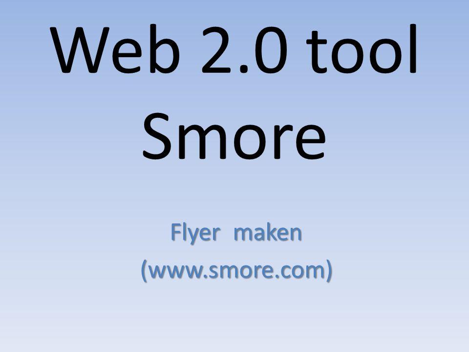 Flyer maken (www.smore.com)