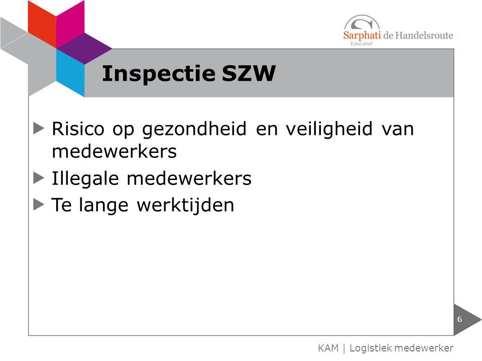 Inspectie SZW Risico op gezondheid en veiligheid van medewerkers