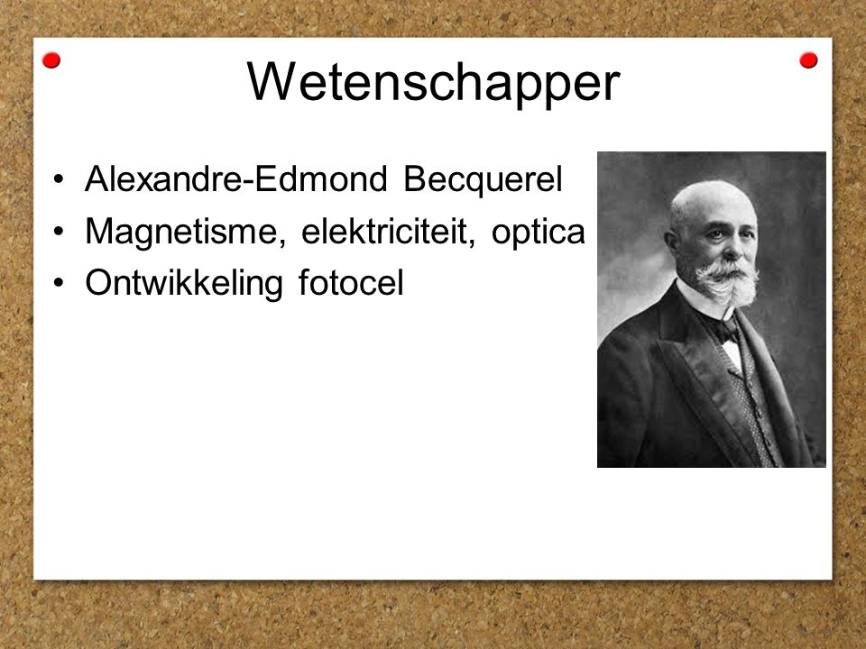 Wetenschapper Alexandre-Edmond Becquerel