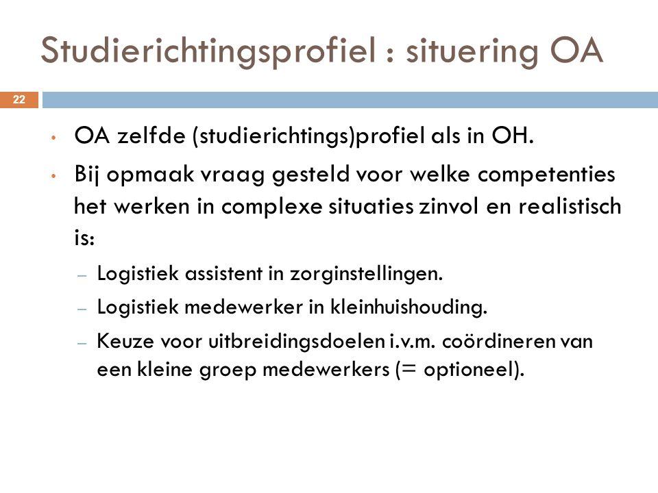 Studierichtingsprofiel : situering OA