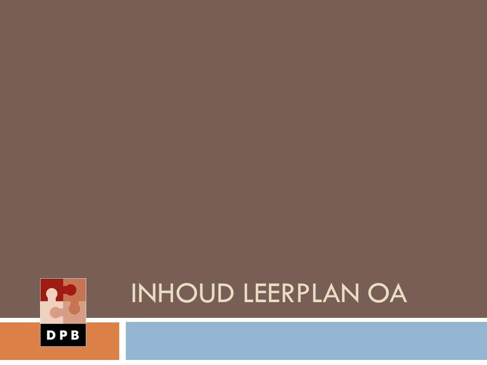 INHOUD LEERPLAN OA