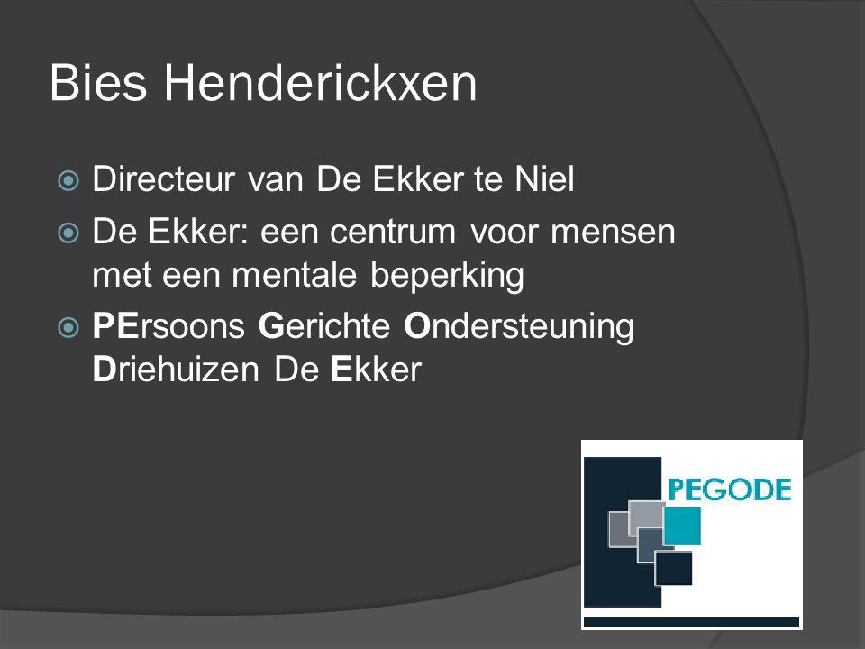 Bies Henderickxen Directeur van De Ekker te Niel