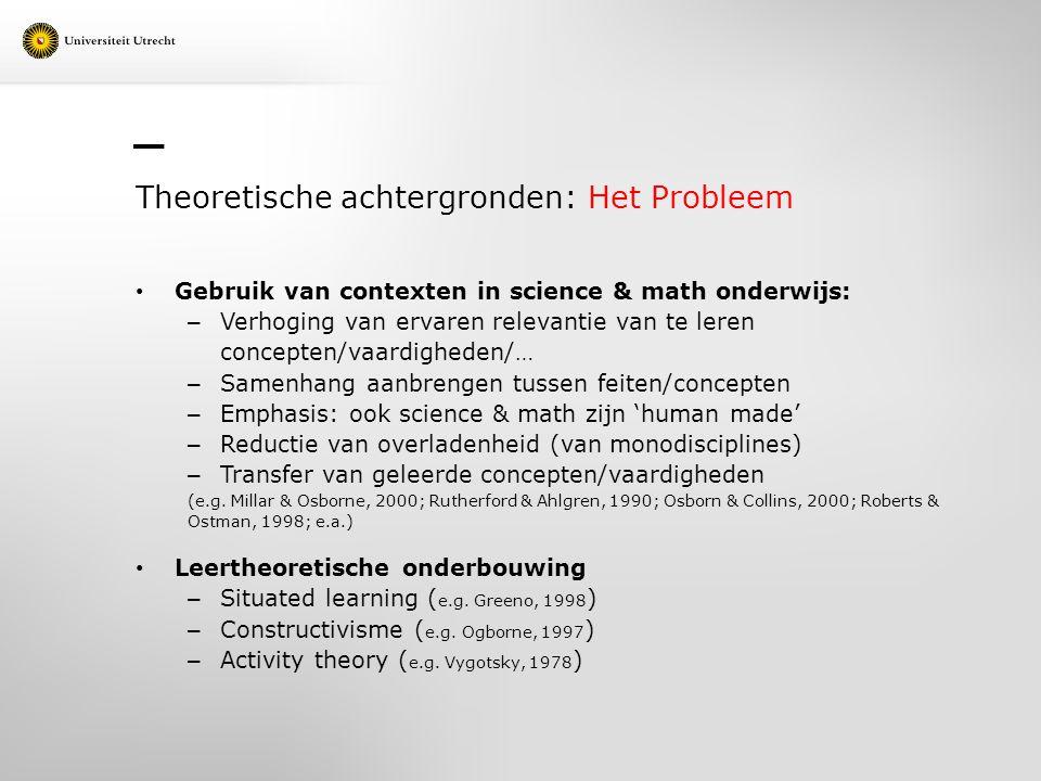 Theoretische achtergronden: Het Probleem