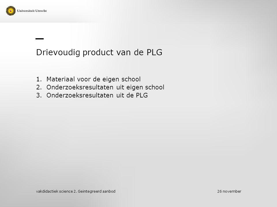 Drievoudig product van de PLG