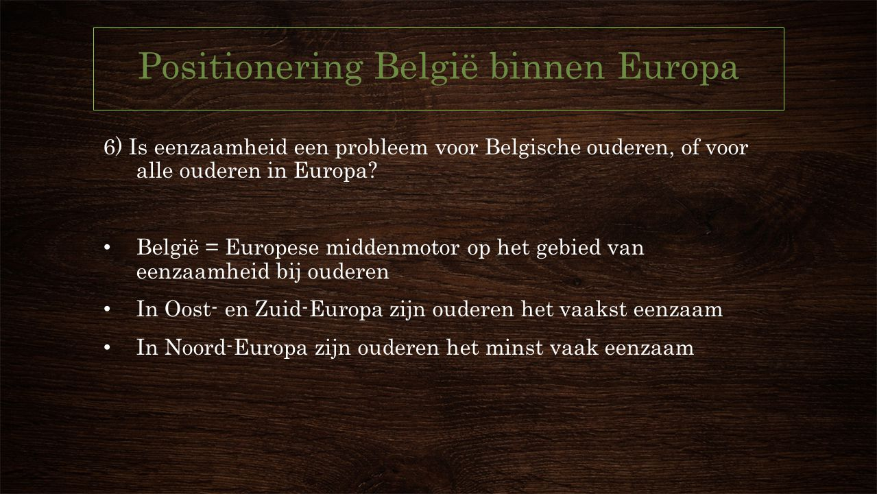 Positionering België binnen Europa