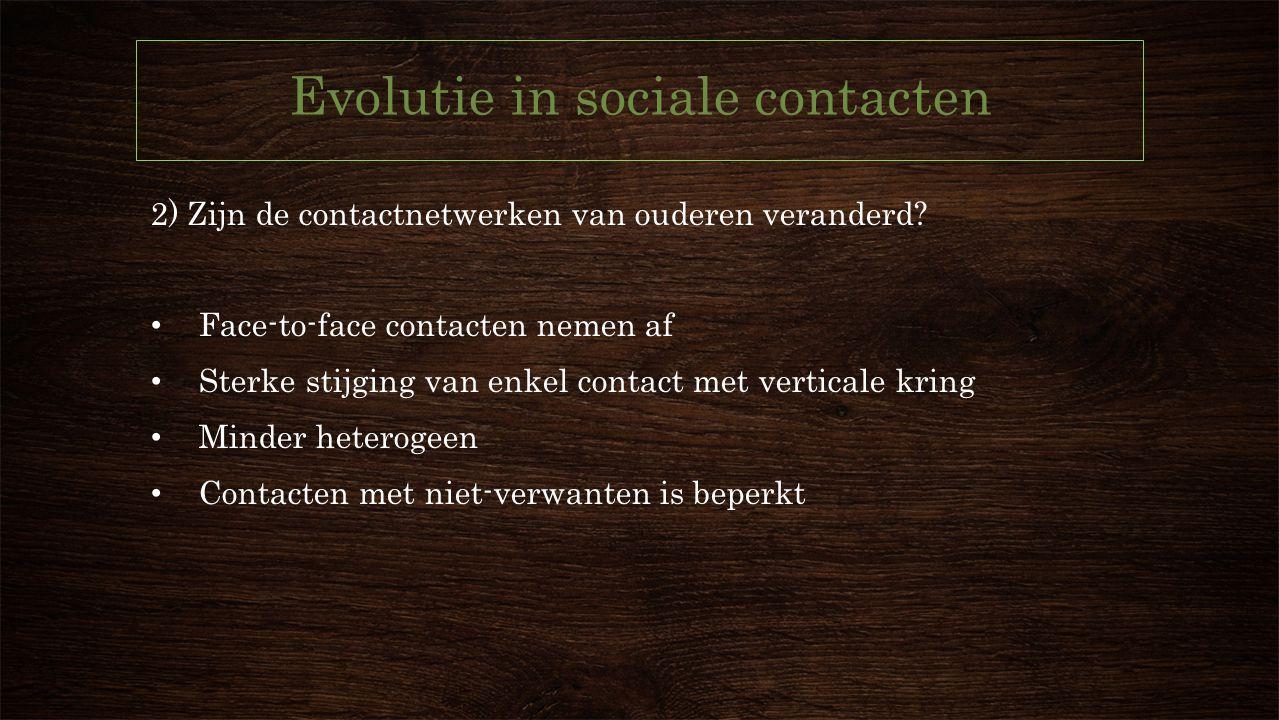 Evolutie in sociale contacten
