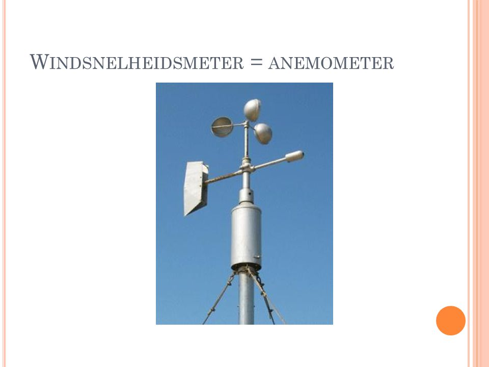 Windsnelheidsmeter = anemometer