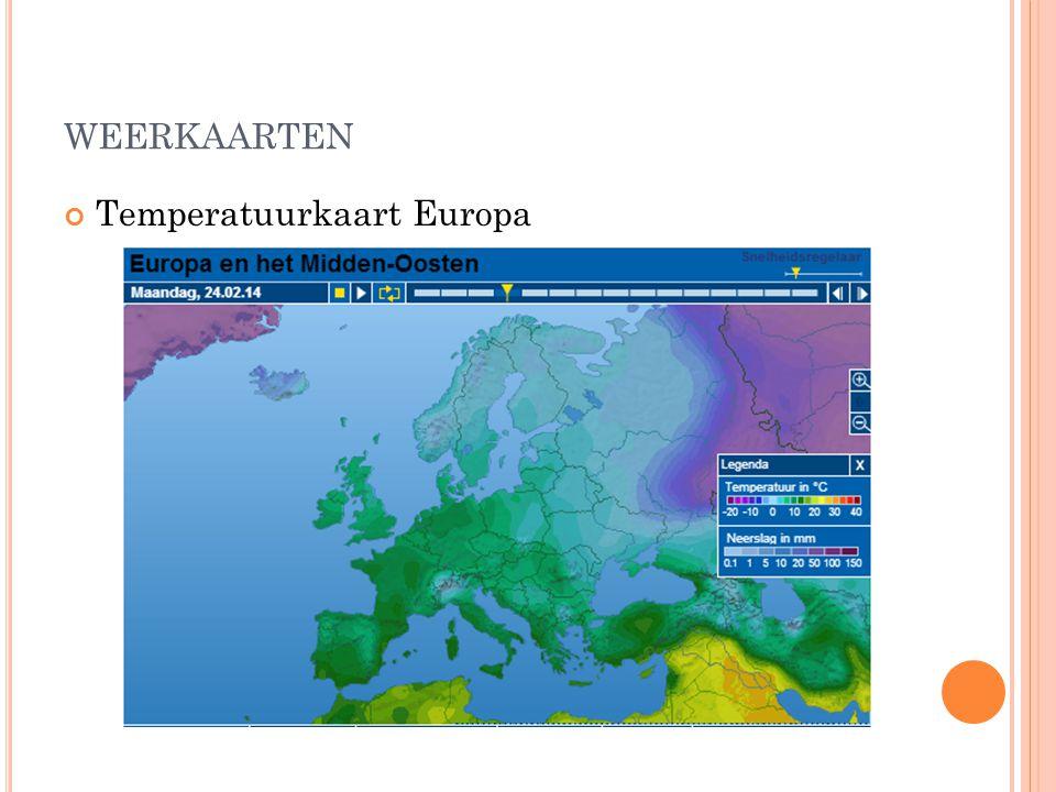 weerkaarten Temperatuurkaart Europa
