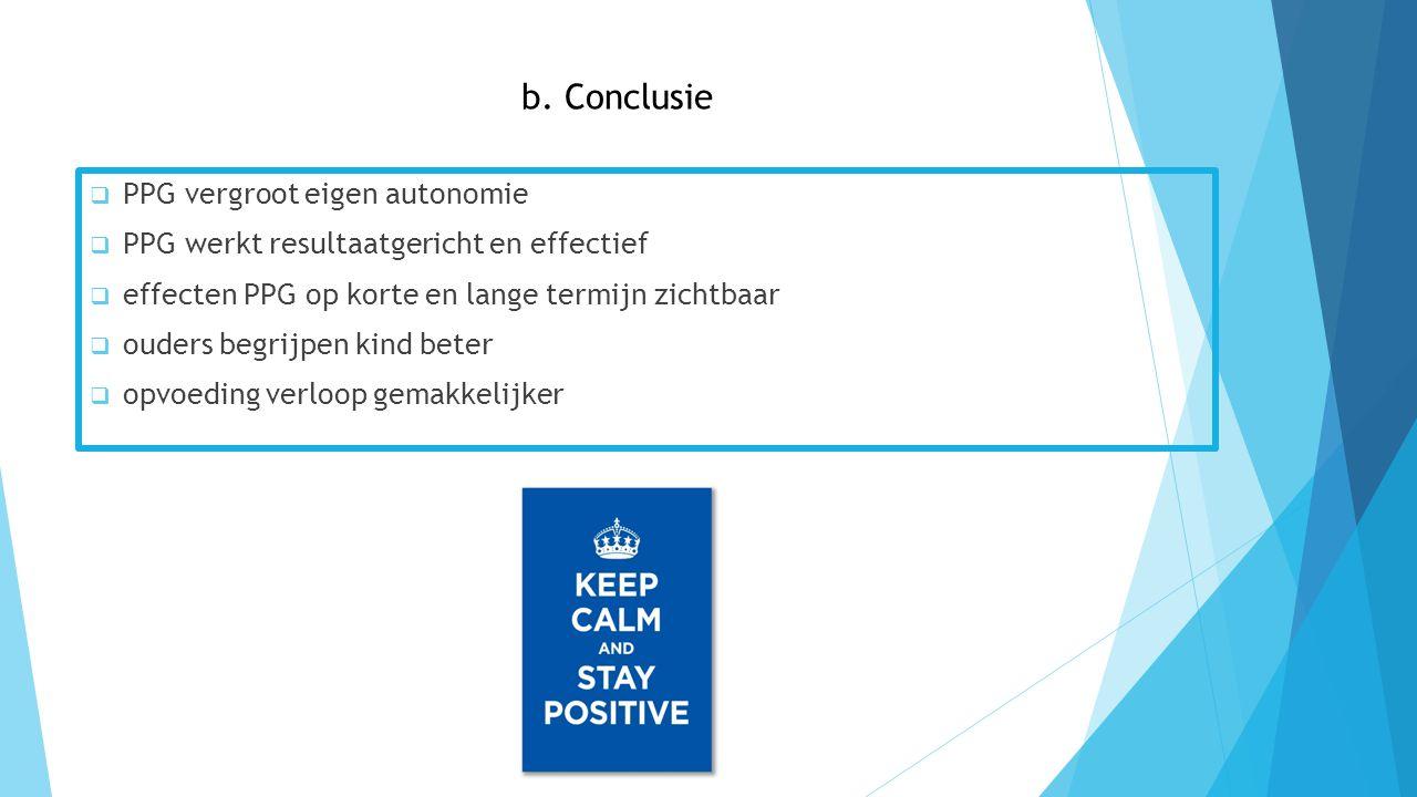 b. Conclusie PPG vergroot eigen autonomie