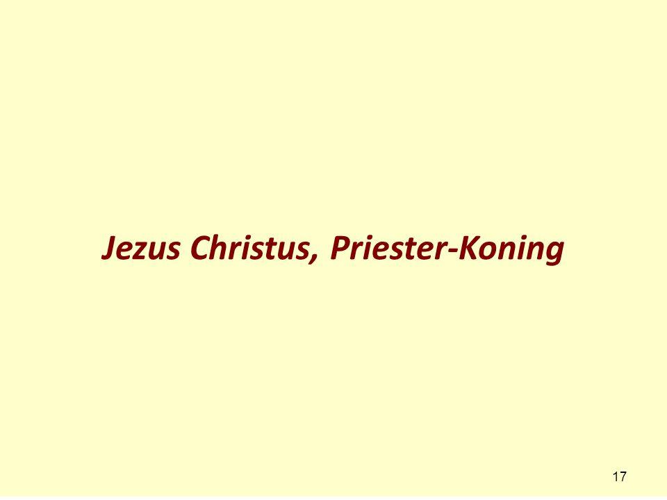 Jezus Christus, Priester-Koning