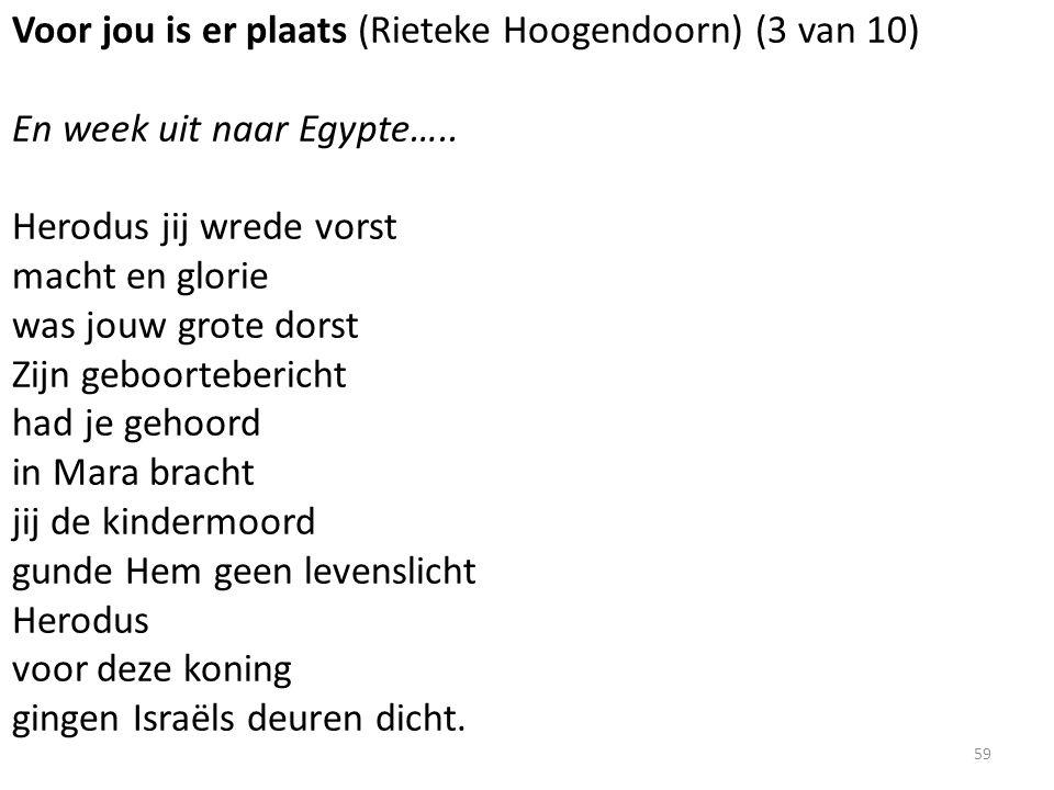 Voor jou is er plaats (Rieteke Hoogendoorn) (3 van 10) En week uit naar Egypte…..