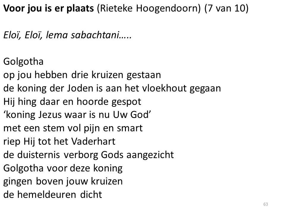 Voor jou is er plaats (Rieteke Hoogendoorn) (7 van 10) Eloï, Eloï, lema sabachtani…..
