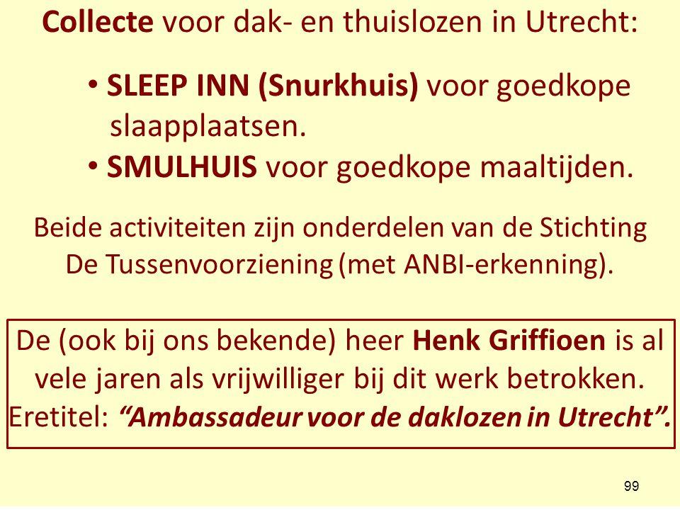 Collecte voor dak- en thuislozen in Utrecht: