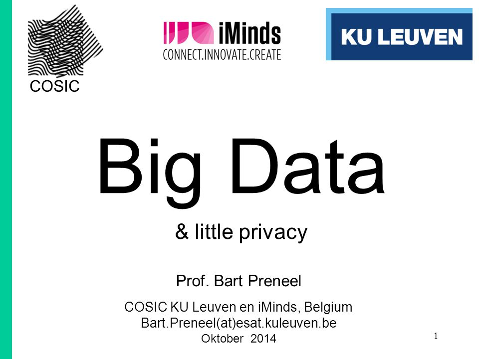 Big Data & little privacy