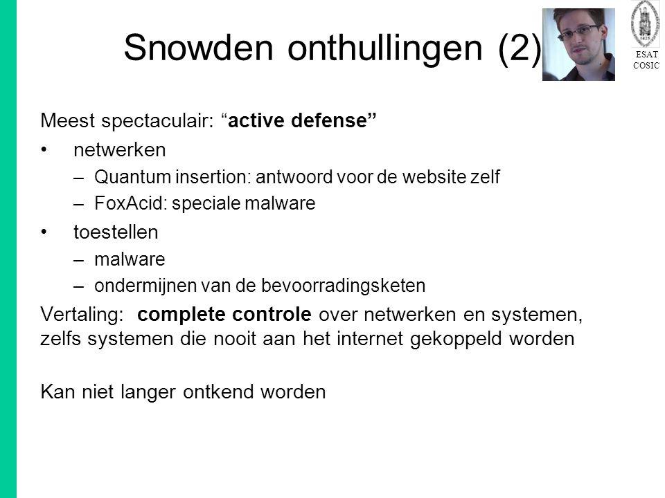Snowden onthullingen (2)