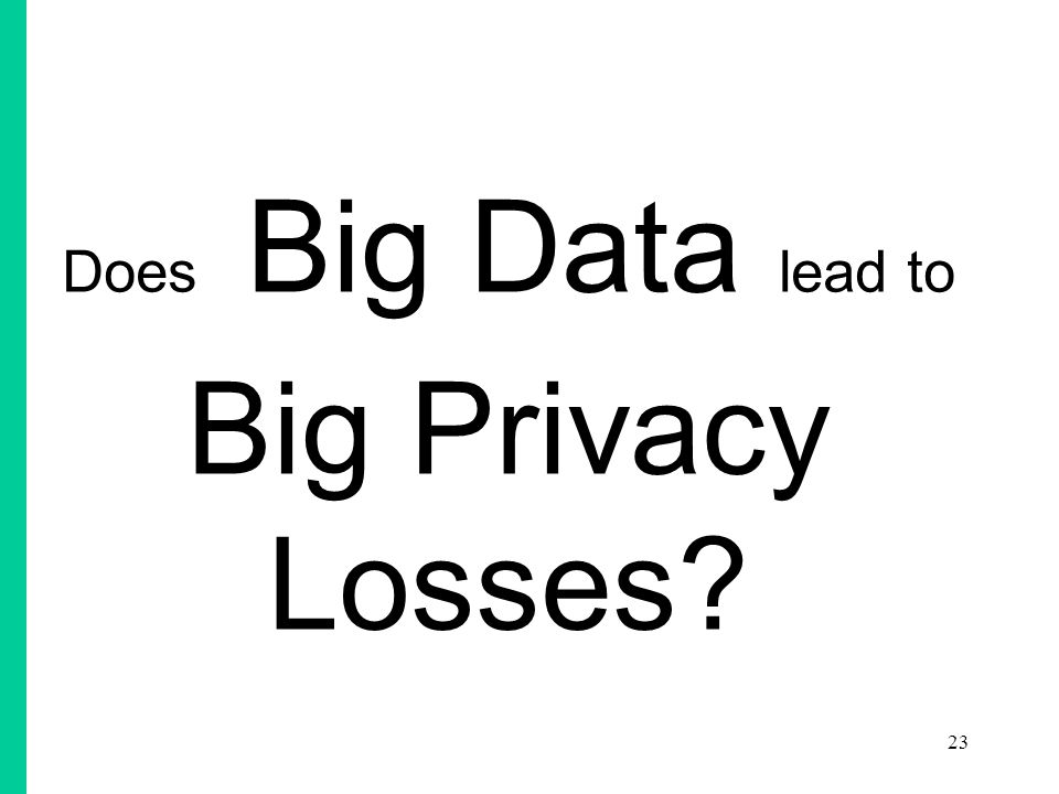 Does Big Data lead to Big Privacy Losses