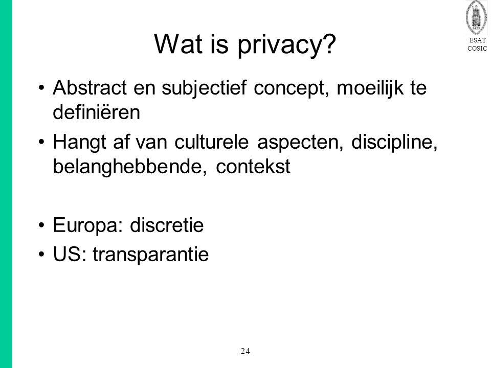 Wat is privacy Abstract en subjectief concept, moeilijk te definiëren