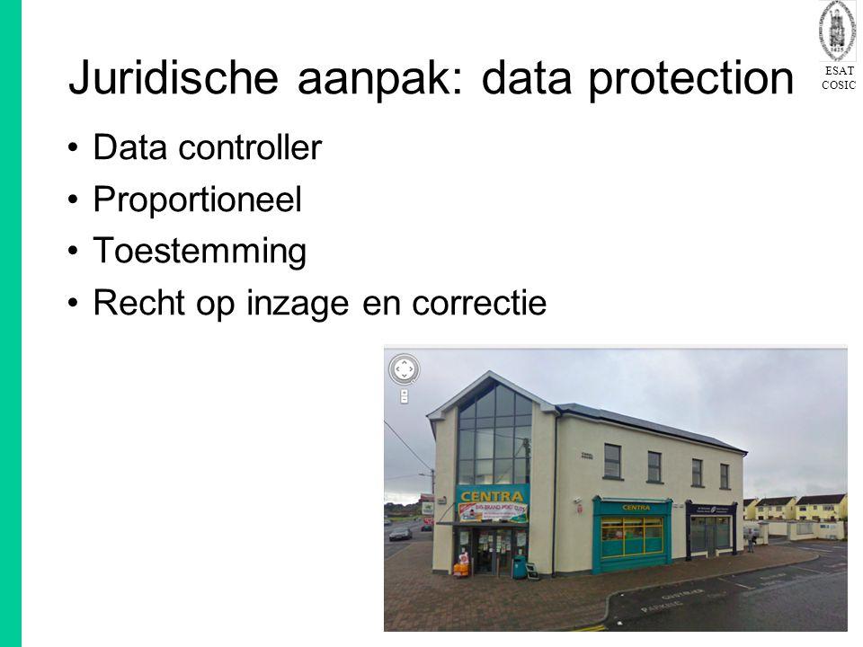 Juridische aanpak: data protection