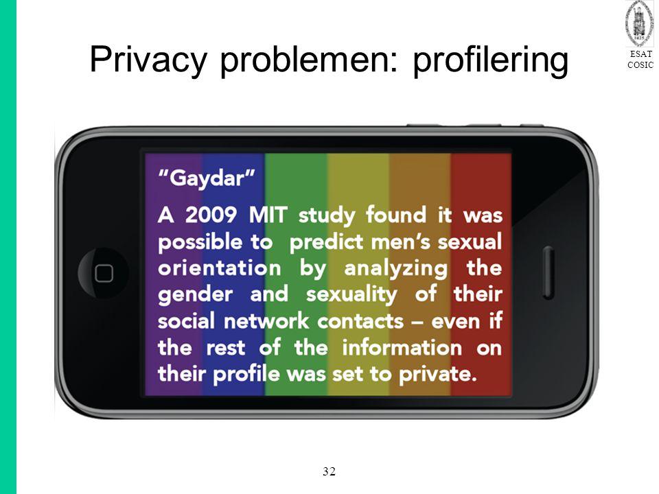 Privacy problemen: profilering