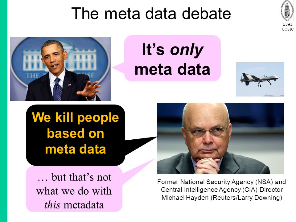 We kill people based on meta data