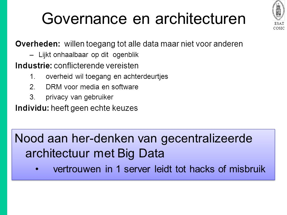 Governance en architecturen