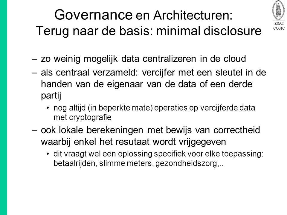 Governance en Architecturen: Terug naar de basis: minimal disclosure