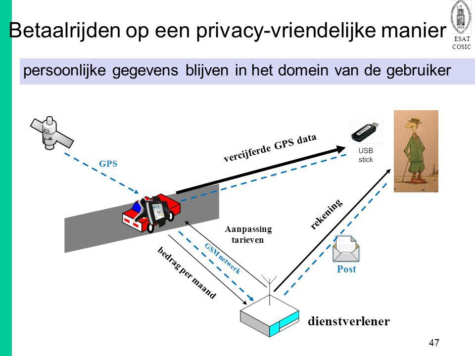 Betaalrijden op een privacy-vriendelijke manier