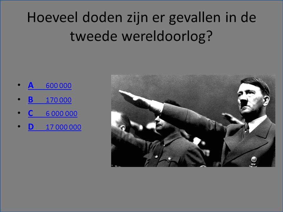 Hoeveel doden zijn er gevallen in de tweede wereldoorlog