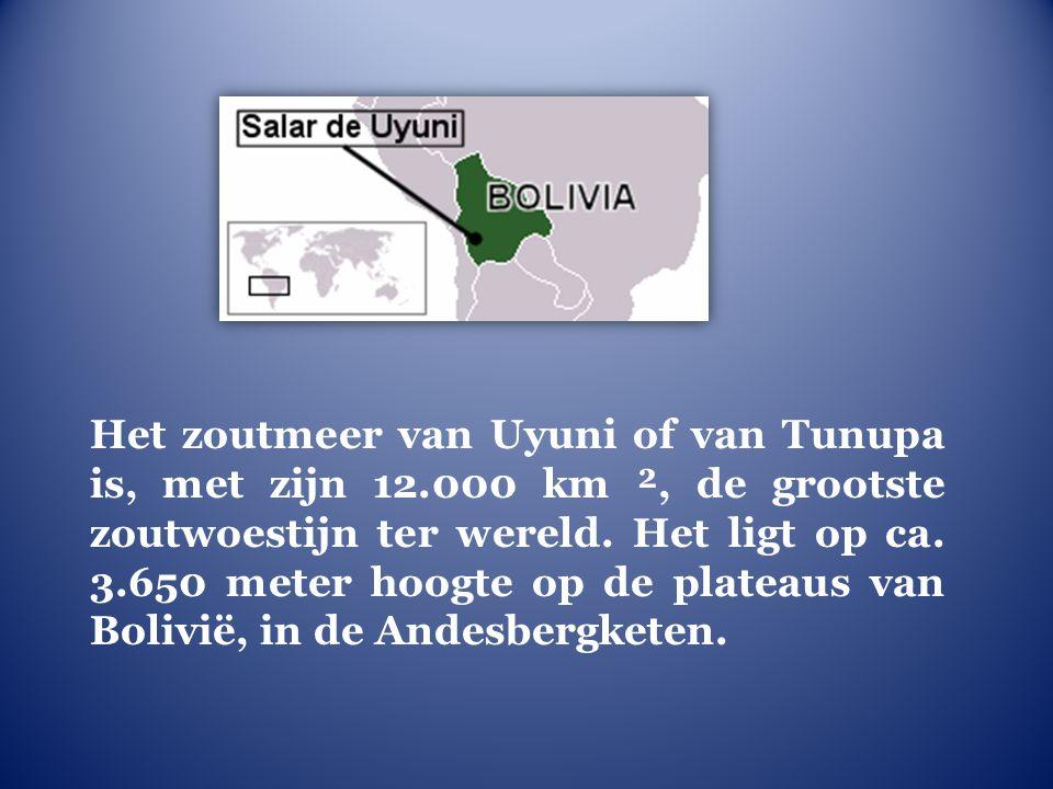 Het zoutmeer van Uyuni of van Tunupa is, met zijn 12