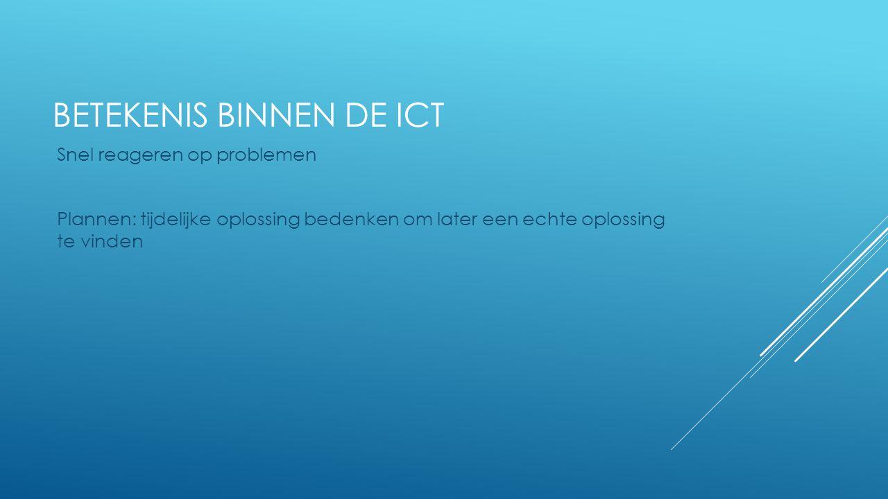 Betekenis binnen de ICT
