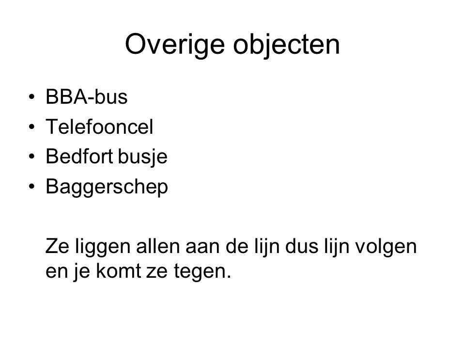 Overige objecten BBA-bus Telefooncel Bedfort busje Baggerschep