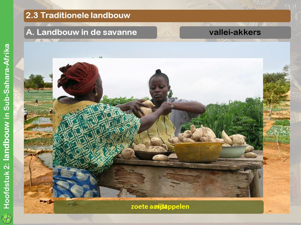 2.3 Traditionele landbouw