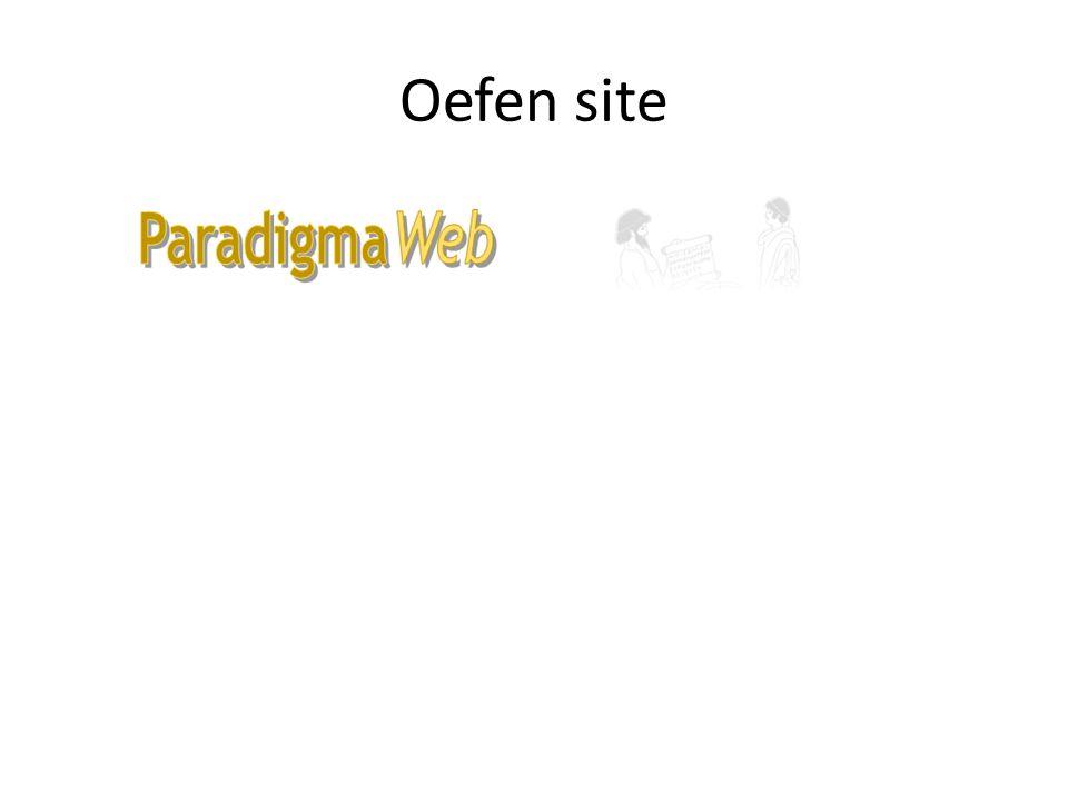 Oefen site