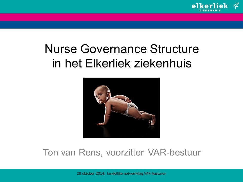 Nurse Governance Structure in het Elkerliek ziekenhuis