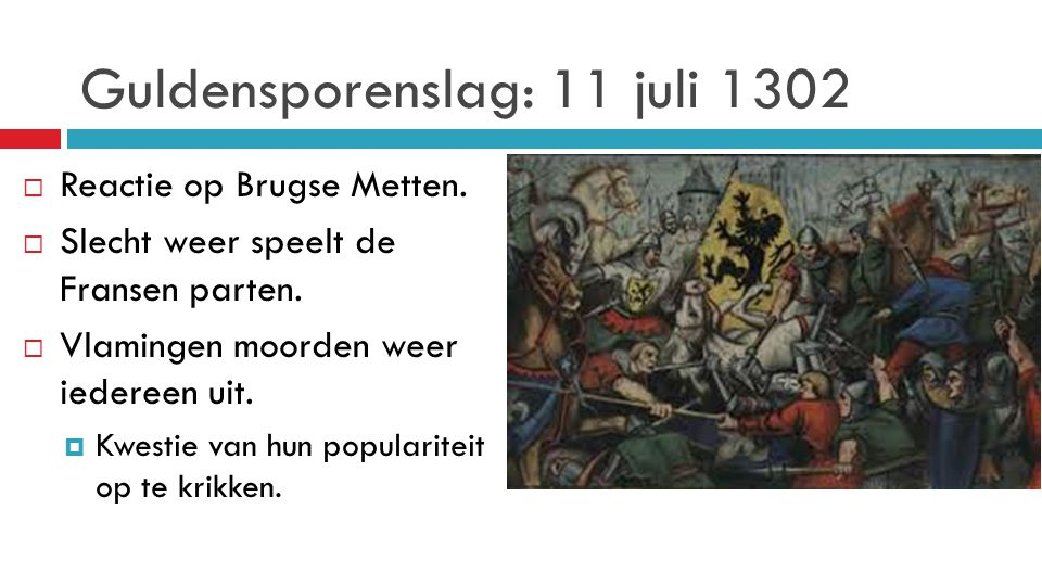 Guldensporenslag: 11 juli 1302
