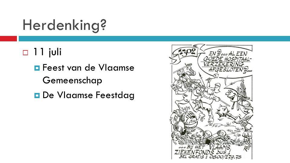 Herdenking 11 juli Feest van de Vlaamse Gemeenschap
