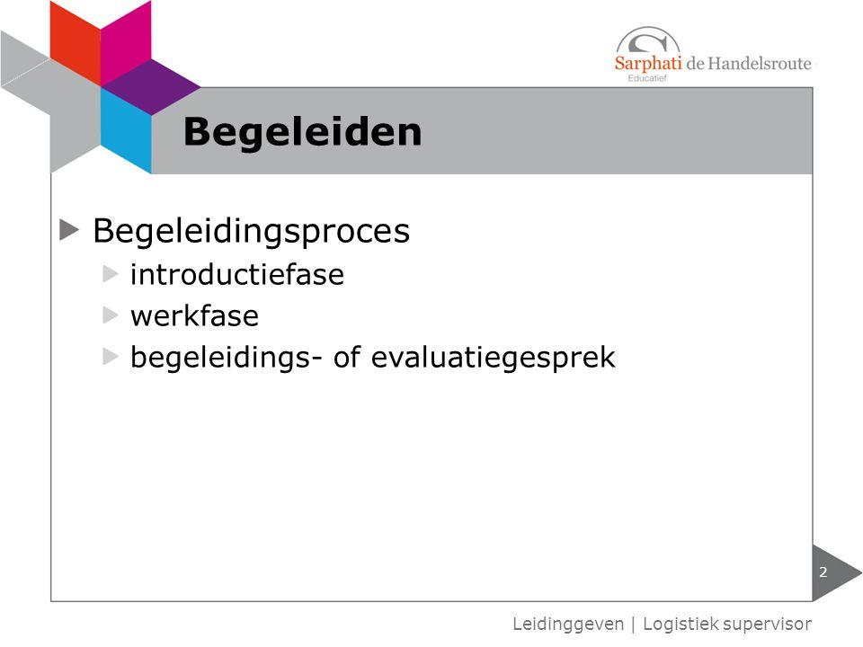 Begeleiden Begeleidingsproces introductiefase werkfase