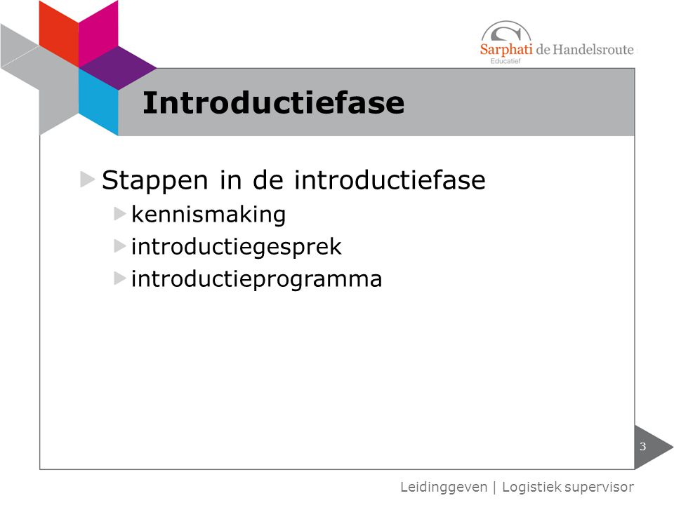 Introductiefase Stappen in de introductiefase kennismaking