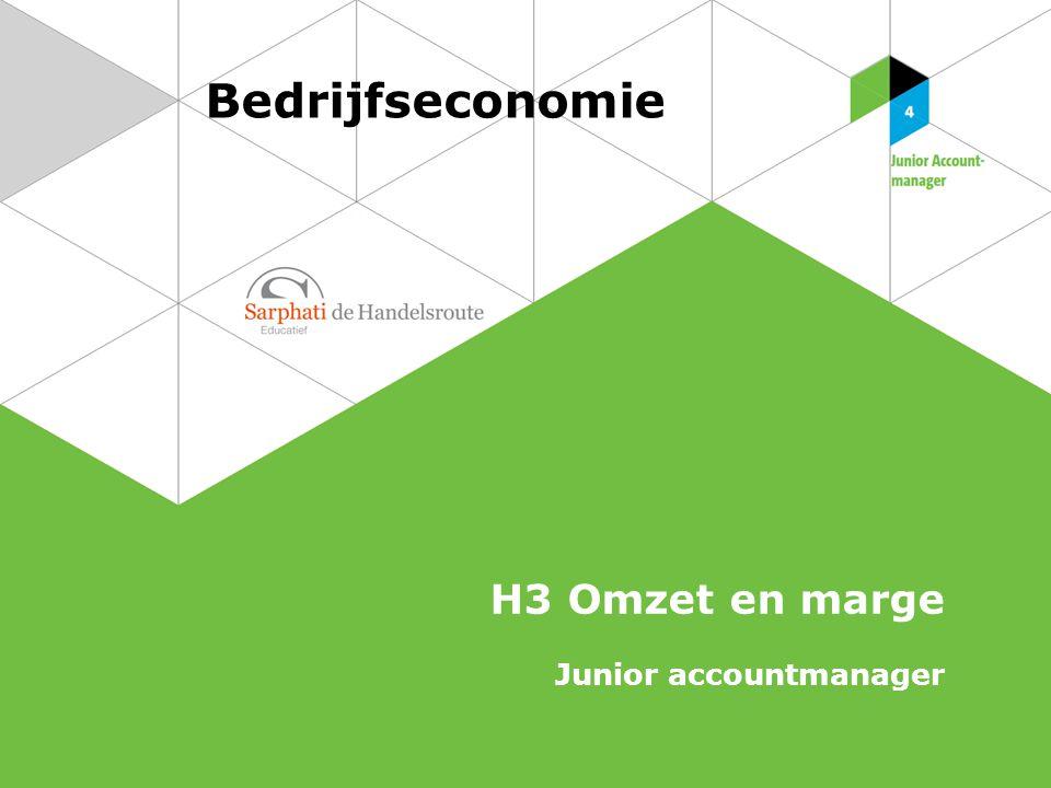 Bedrijfseconomie H3 Omzet en marge Junior accountmanager