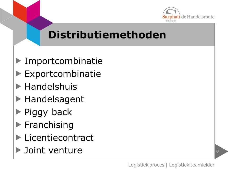 Distributiemethoden Importcombinatie Exportcombinatie Handelshuis