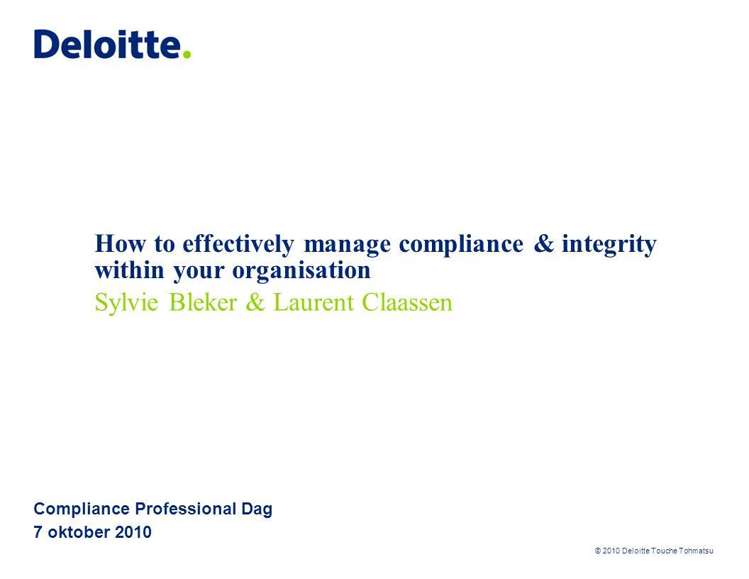 Compliance Professional Dag 7 oktober 2010